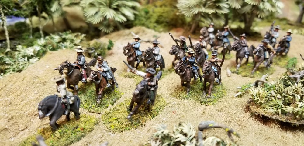 Action from Mark's 2nd Seminole War game