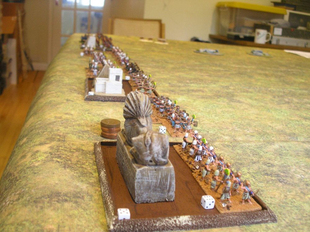 The Egyptian infantry in their new camps