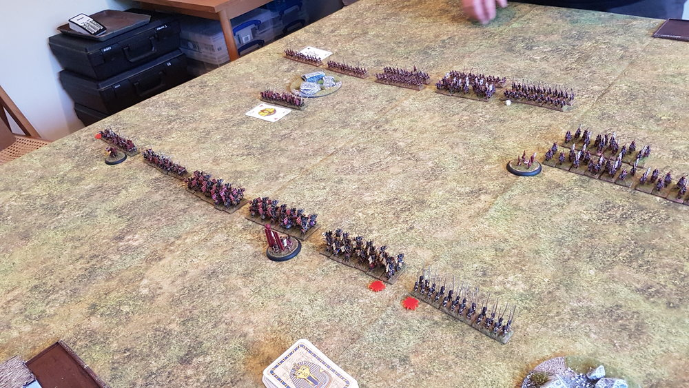 My left flank moves forward