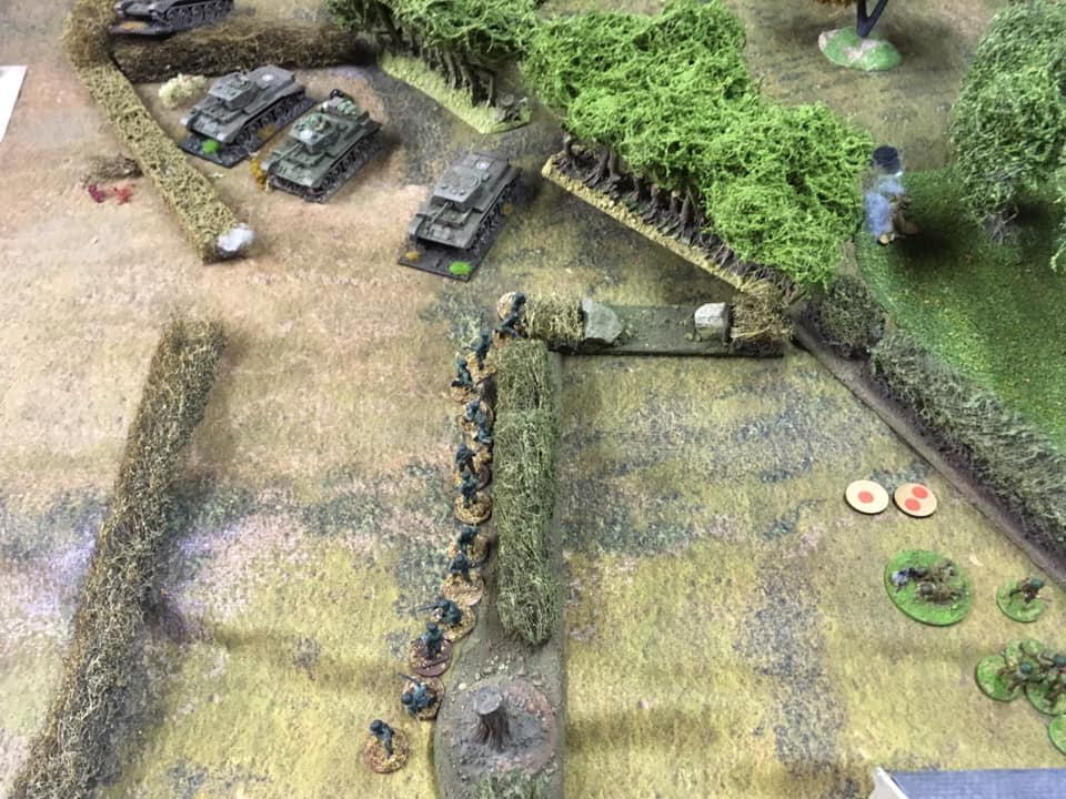 Getting in a bit of a mess with our Cromwells: Germans lining the hedgerows