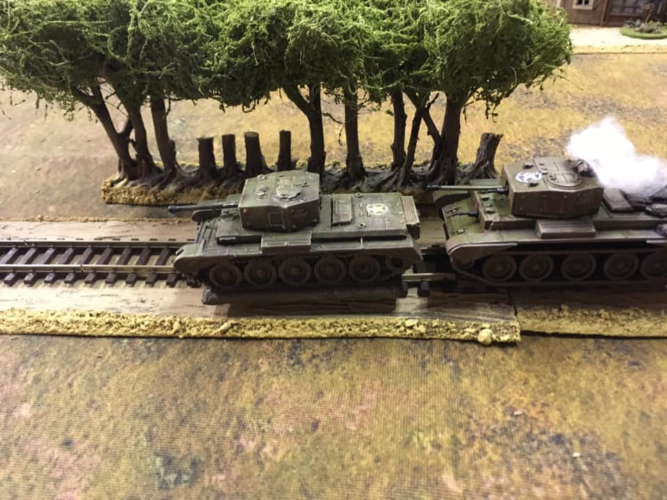 One unfortunate Cromwell falls foul of daisy-chain mines on the railway line