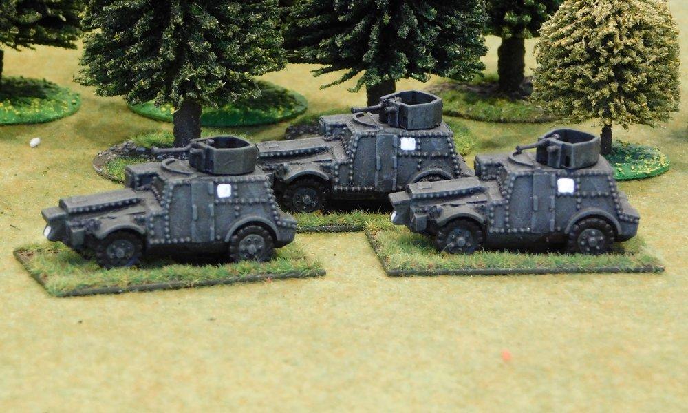 Armoured Car Troop from 12th Lancers (Morris CS9)