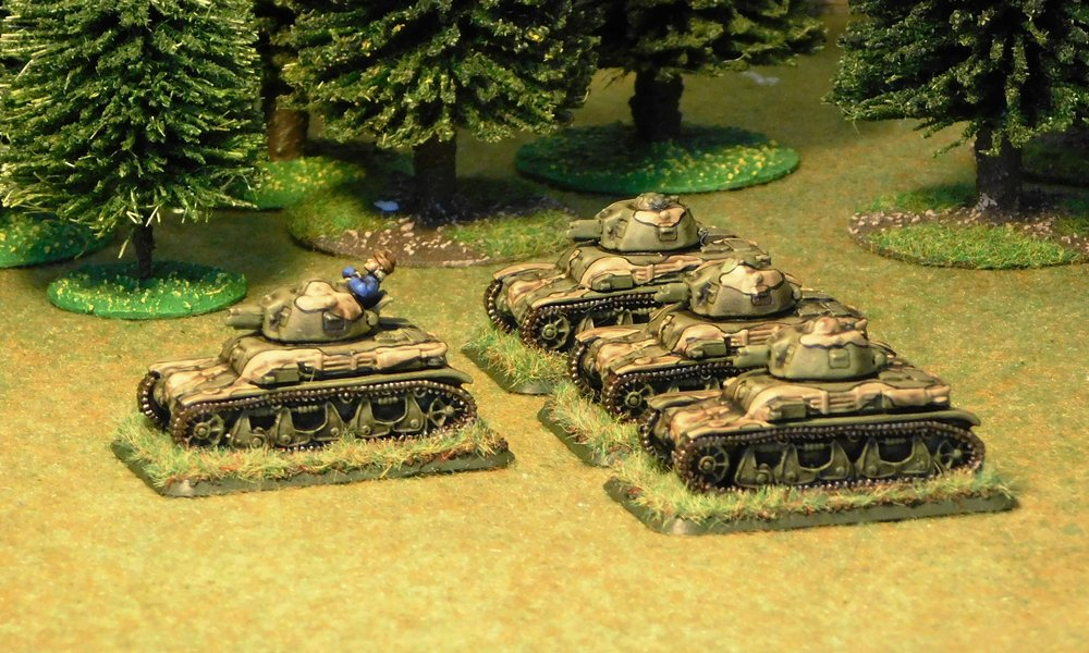 HQ and one platoon of a Company of R-35 Tanks
