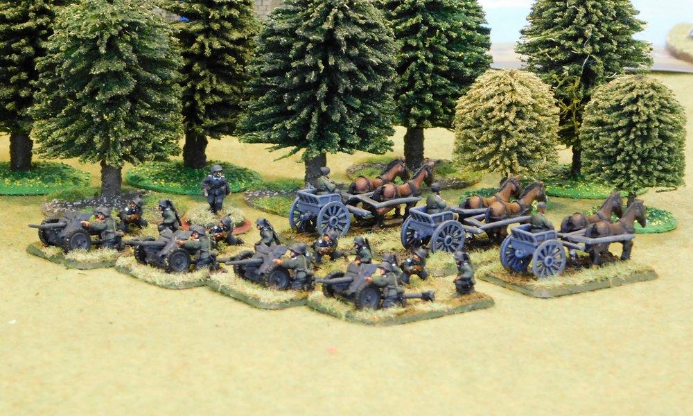 Anti-Tank Gun Platoon (missing one limber)