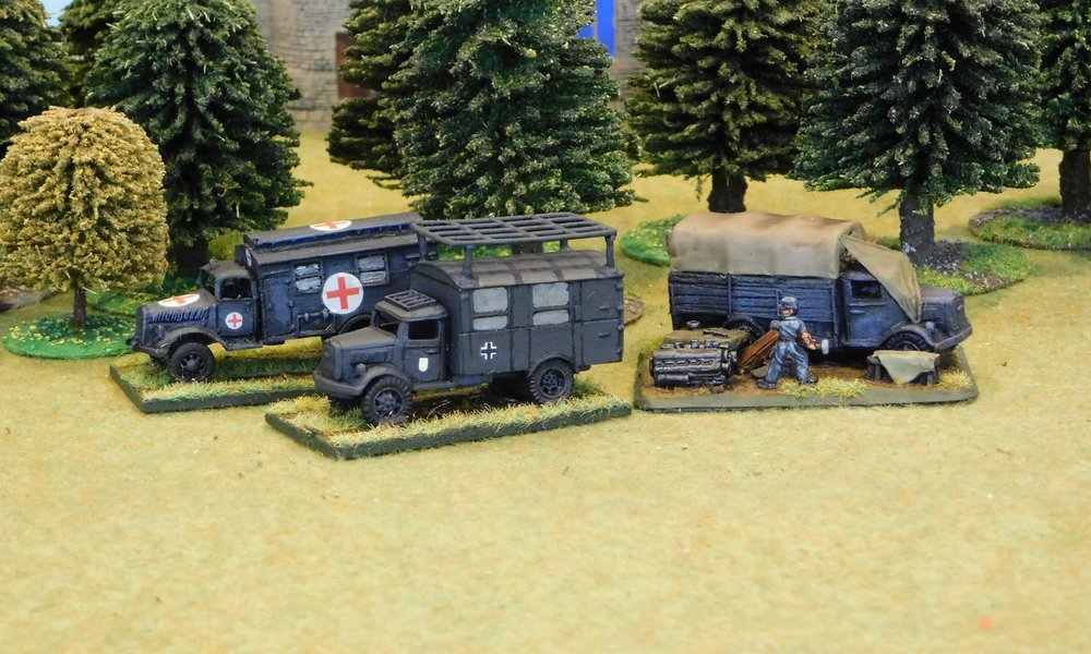 Ambulance, Radio Truck and Workshop