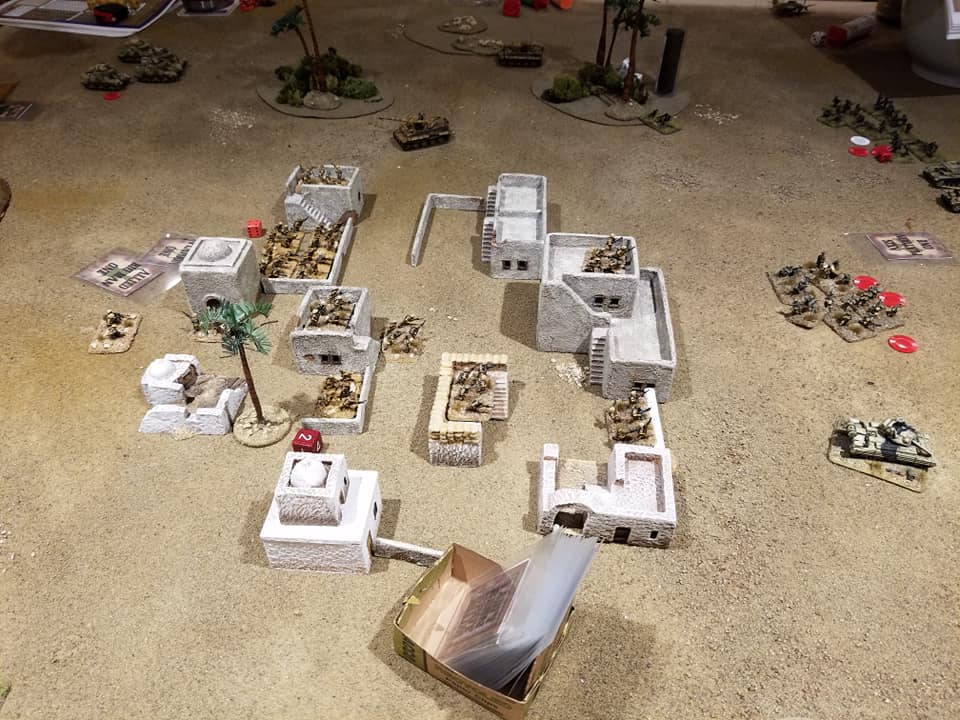 With some early card drawers, The Desert Rats are able to seize the village.