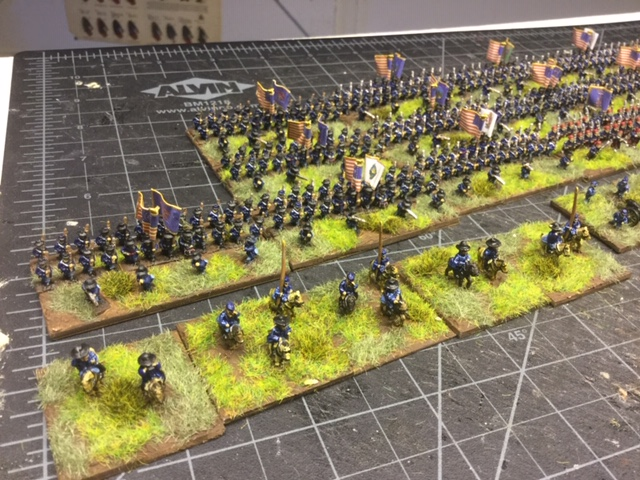 Some of Lloyd's Union army in 6mm