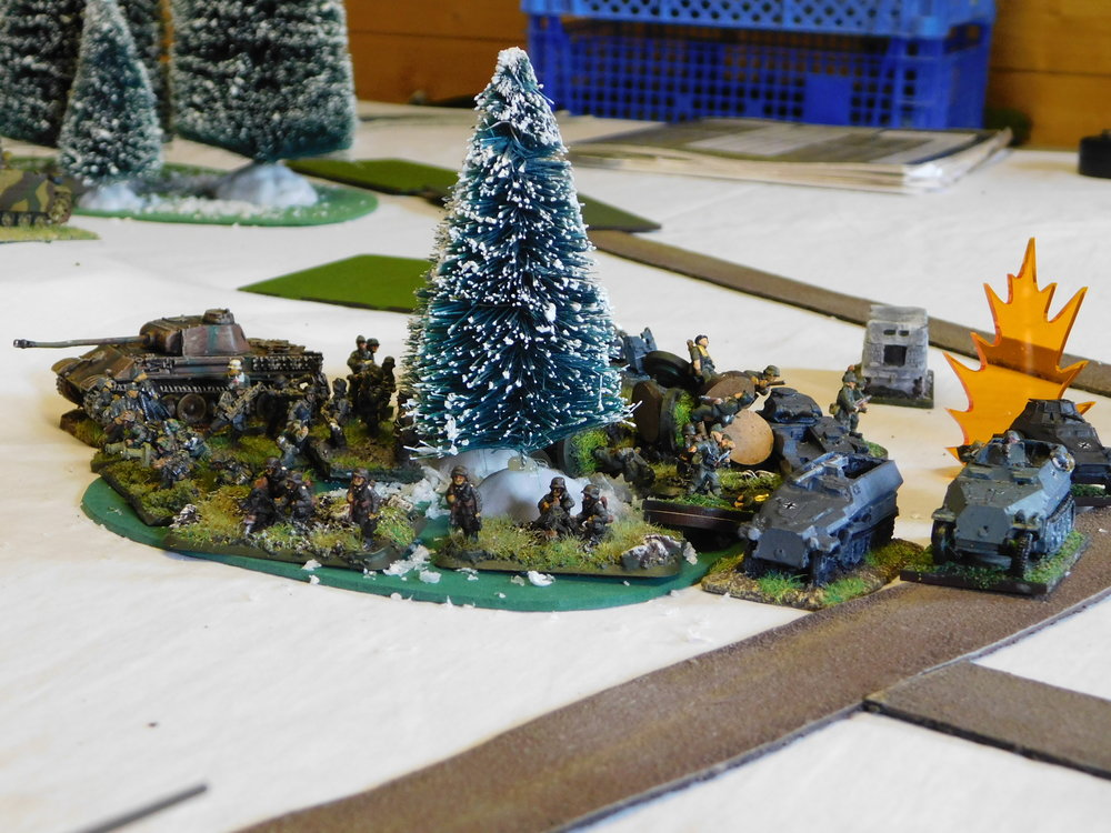German Infantry Deploy In The Wood, 'Schreks Ready For Action