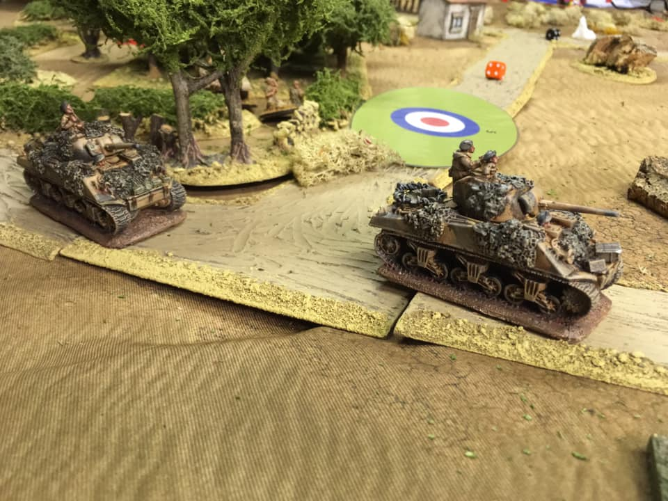 Richard's troop of Sherman tanks 'swanning about' after making light work of resistance in the area of the factory.
