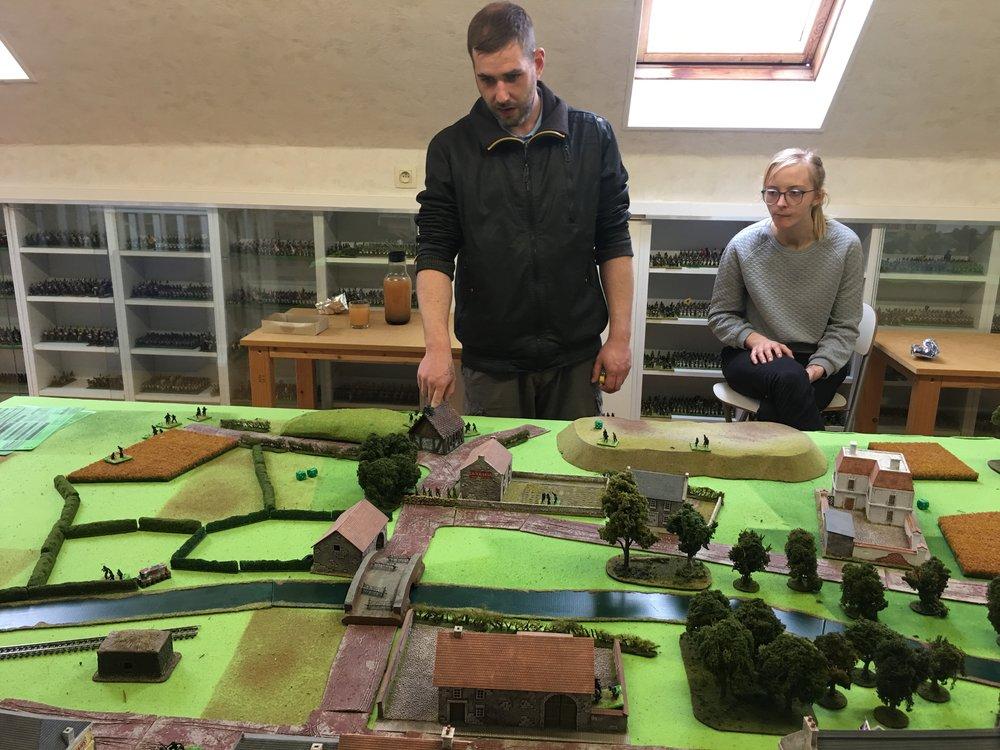 Frederik planning his attack