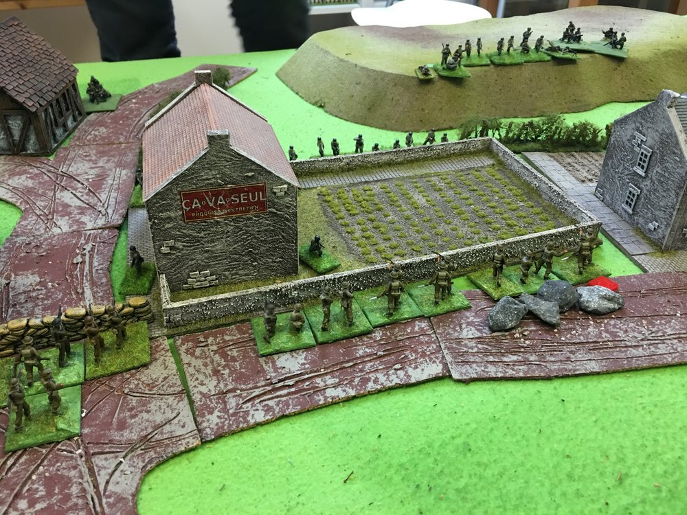 Germans attacking the village