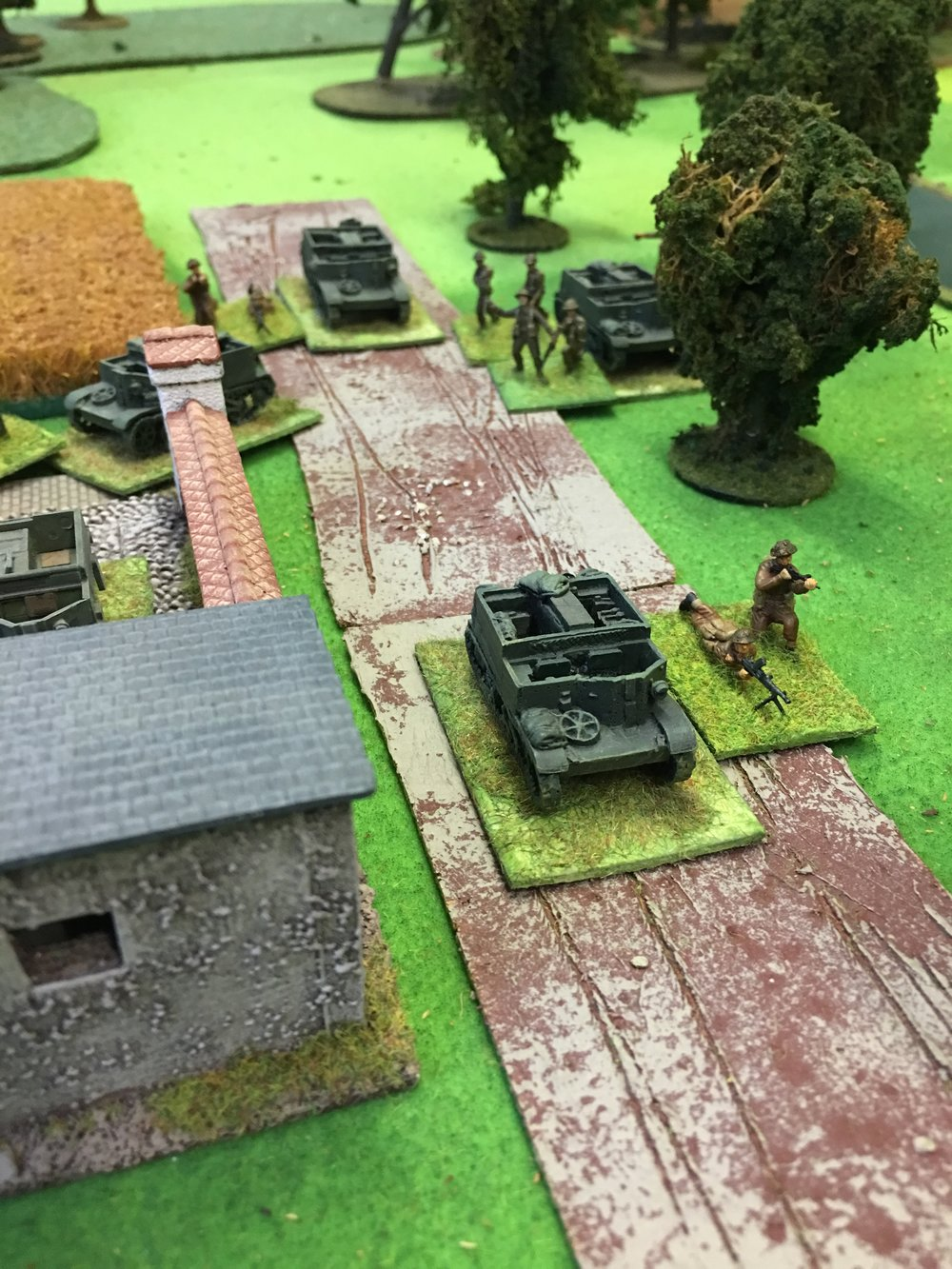 Counter-attack with carriers and infantry