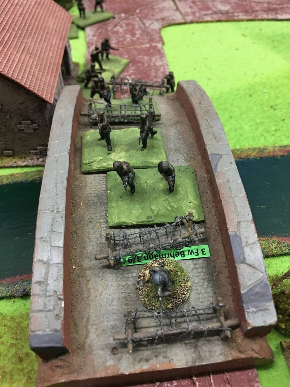 Germans dashing over the bridge