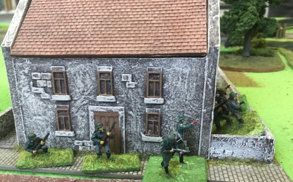 German infantry in the outskirts of Pevensy. This is as far as they got.
