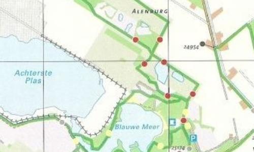 Toeristisch Overstap Punt en wandelkaart Drenthe