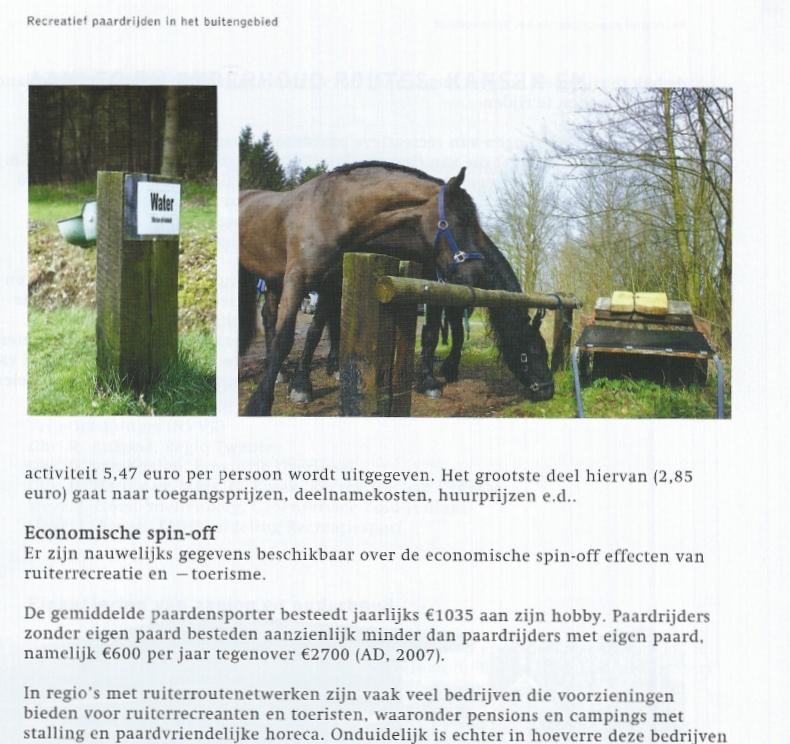 ruitervoorzieningen in 'De paarden op, de lanen in'