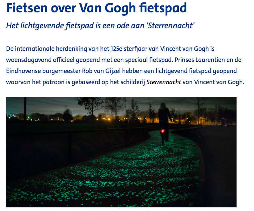 Van Gogh- Roosegaarde fietspad
