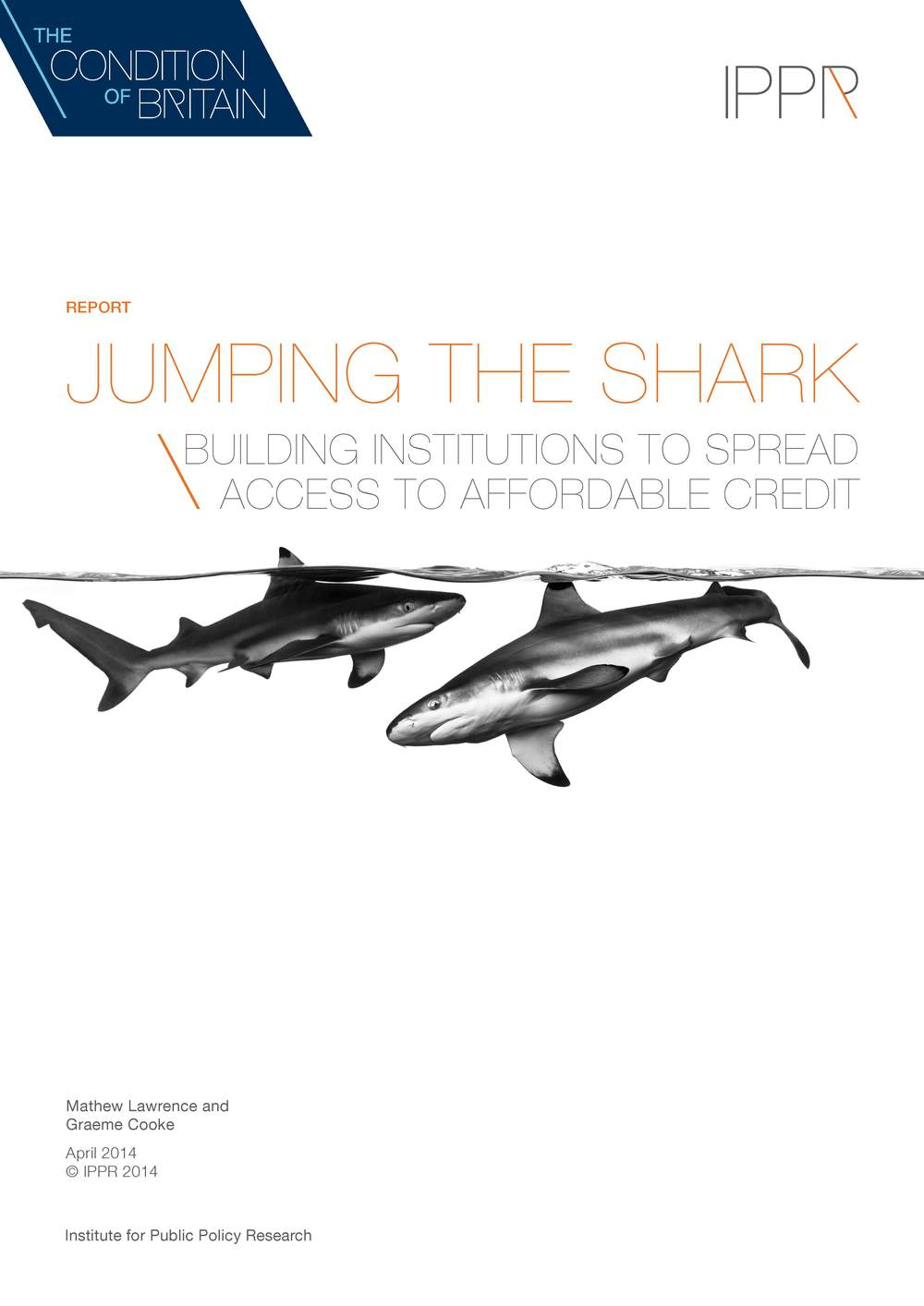 Jumping the shark: Building institutions to spread access to affordable credit IPPR Download PDF (1.3Mb)