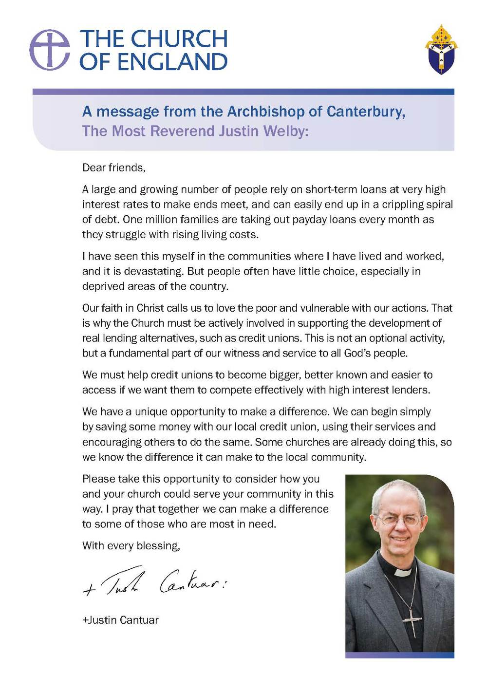 Archbishop Credit Union Message A5 Flyer PDF  |  Word