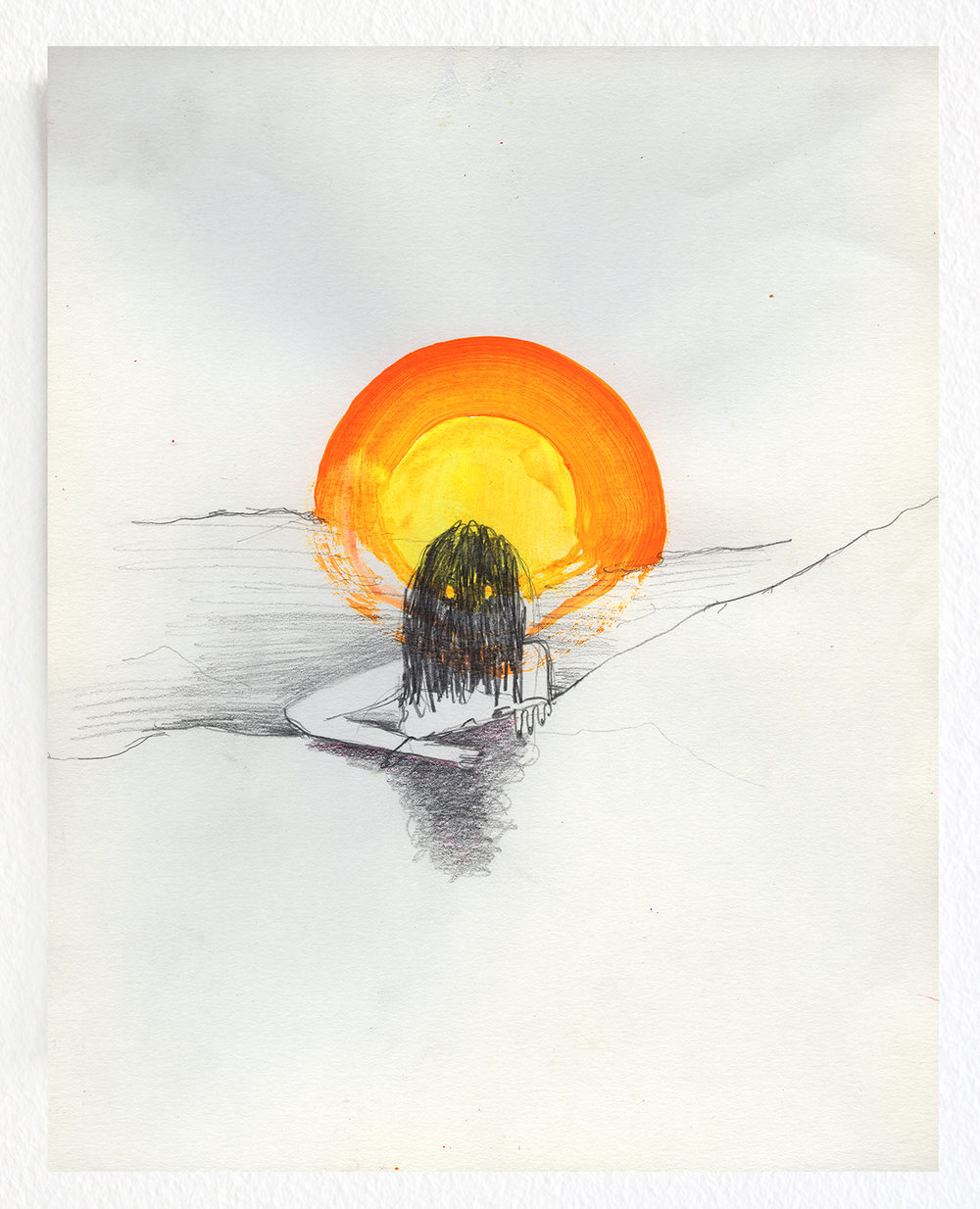 Untitled / 2013, pencil and qouache on paper - 20 x 25 cm