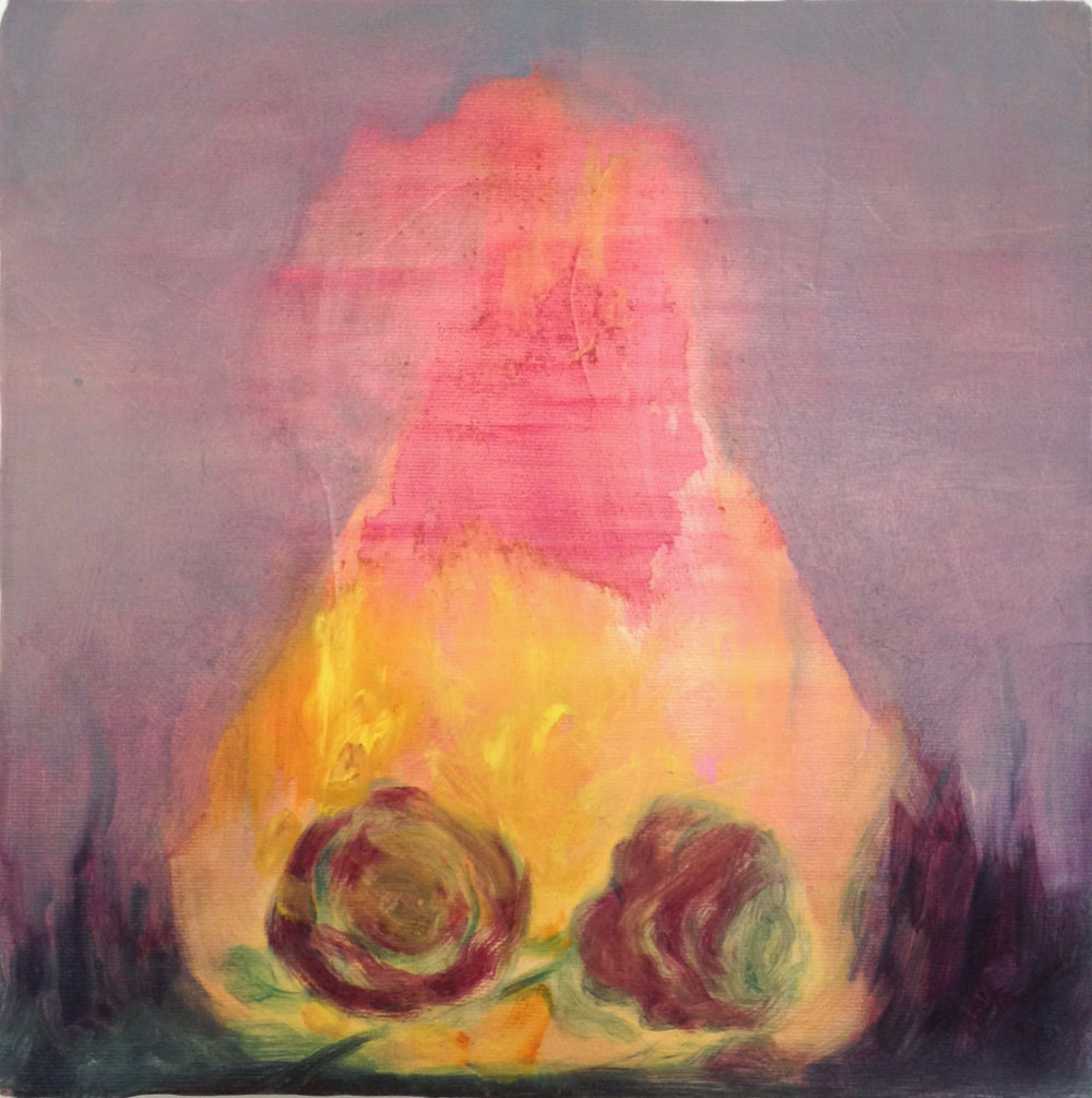 Slow burn / 2016, oil on canvas, 30 x 30 cm