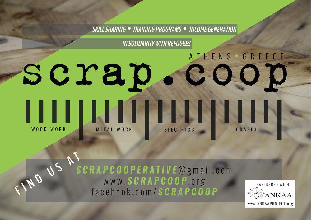 Scrap Coop // Help Us Info Flyer // 2018