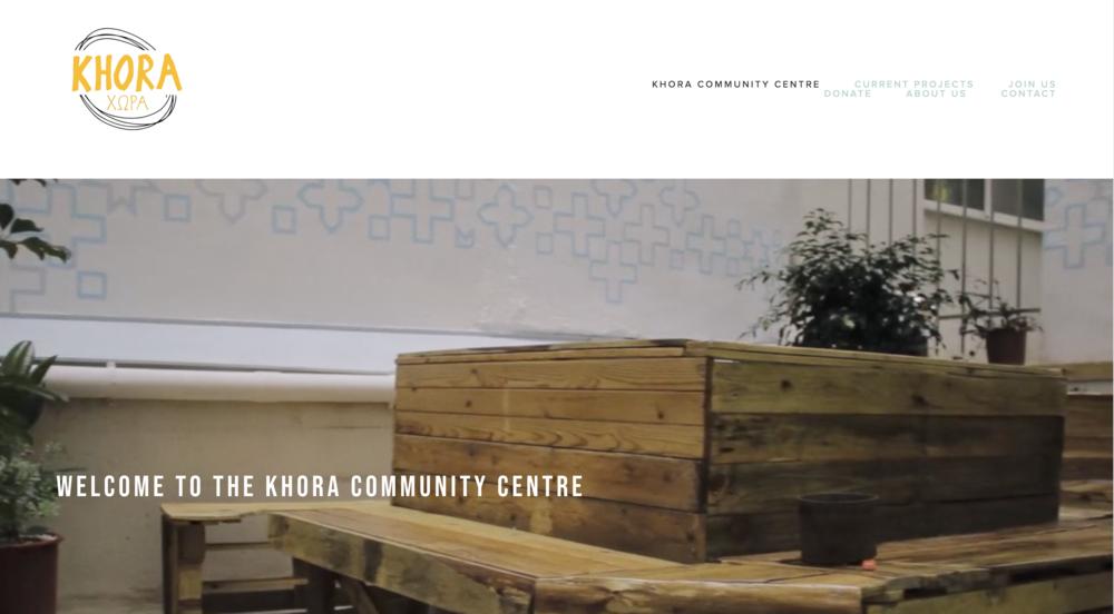 Khora Community Centre // Website Design & Imagery Creation // 2017