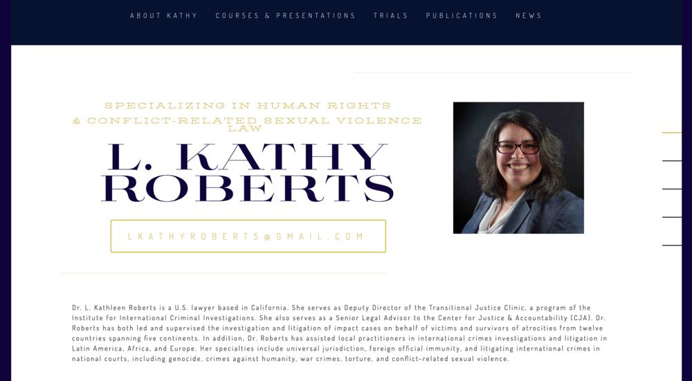 Kathy Roberts - Lawyer // Website Design // 2018