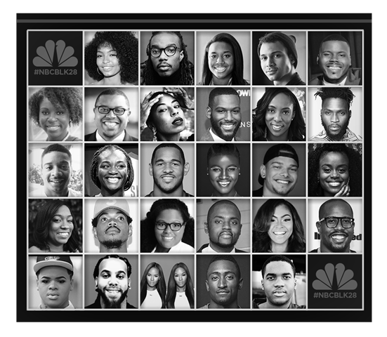 NBCBLK28; NBCBLK is using the 28 days in the month of February to honor 28 of the nation's most impressive innovators, all 28 years and younger. Get to know the #NBCBLK28 class of 2017. -