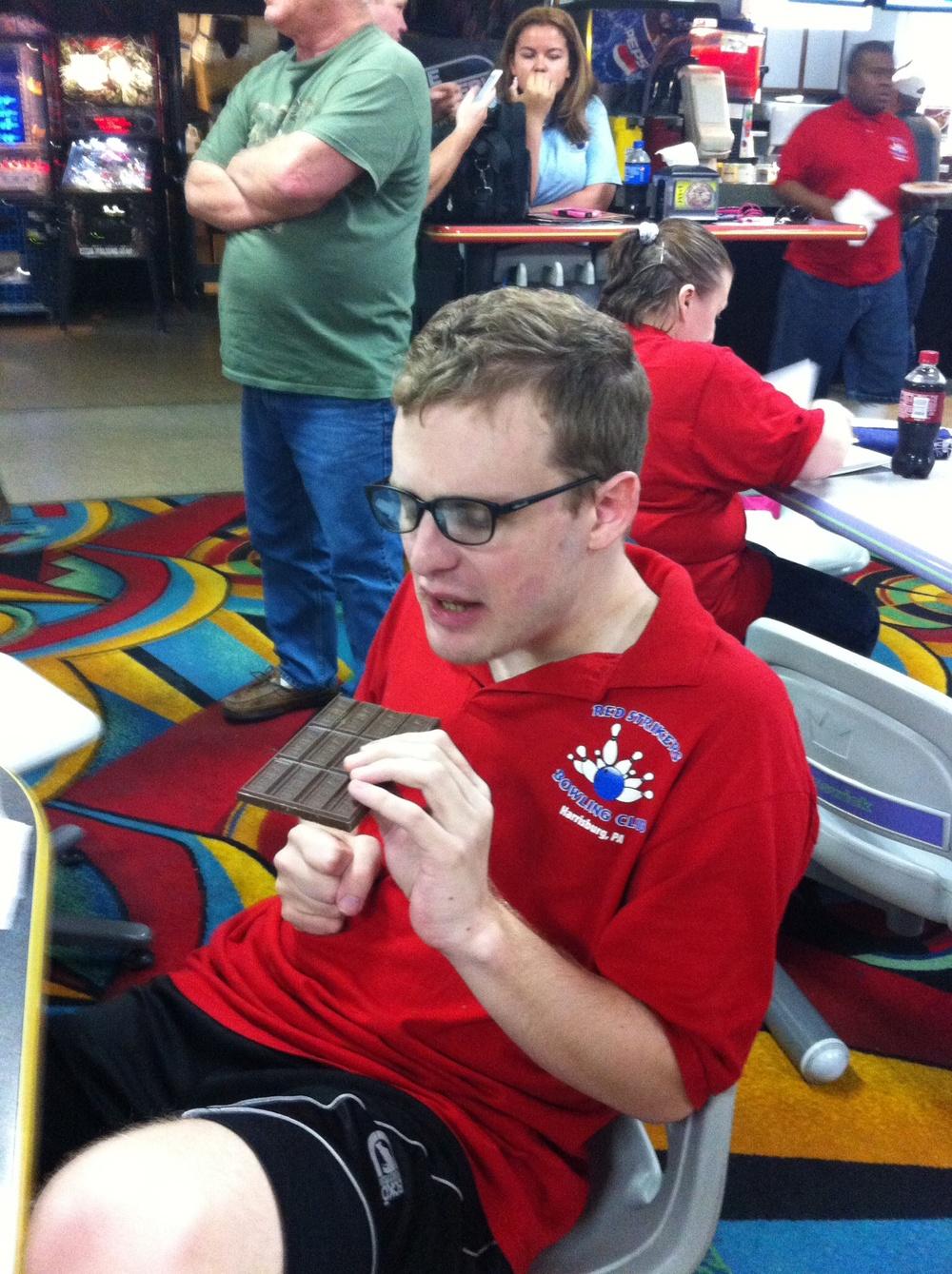 Greg at bowling