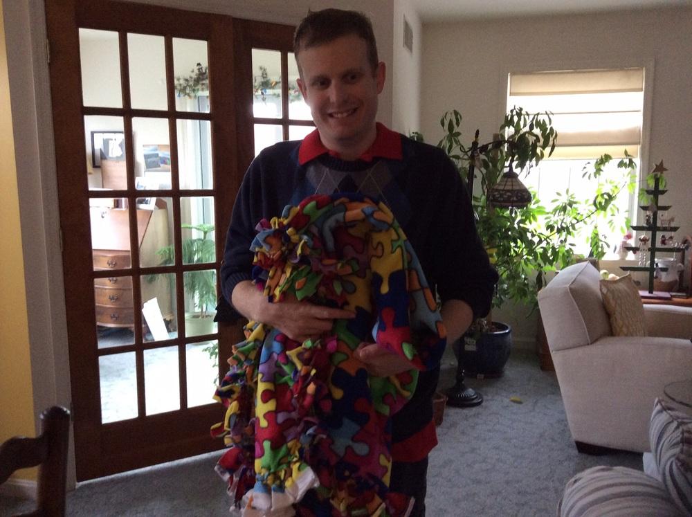 Greg's autism blanket