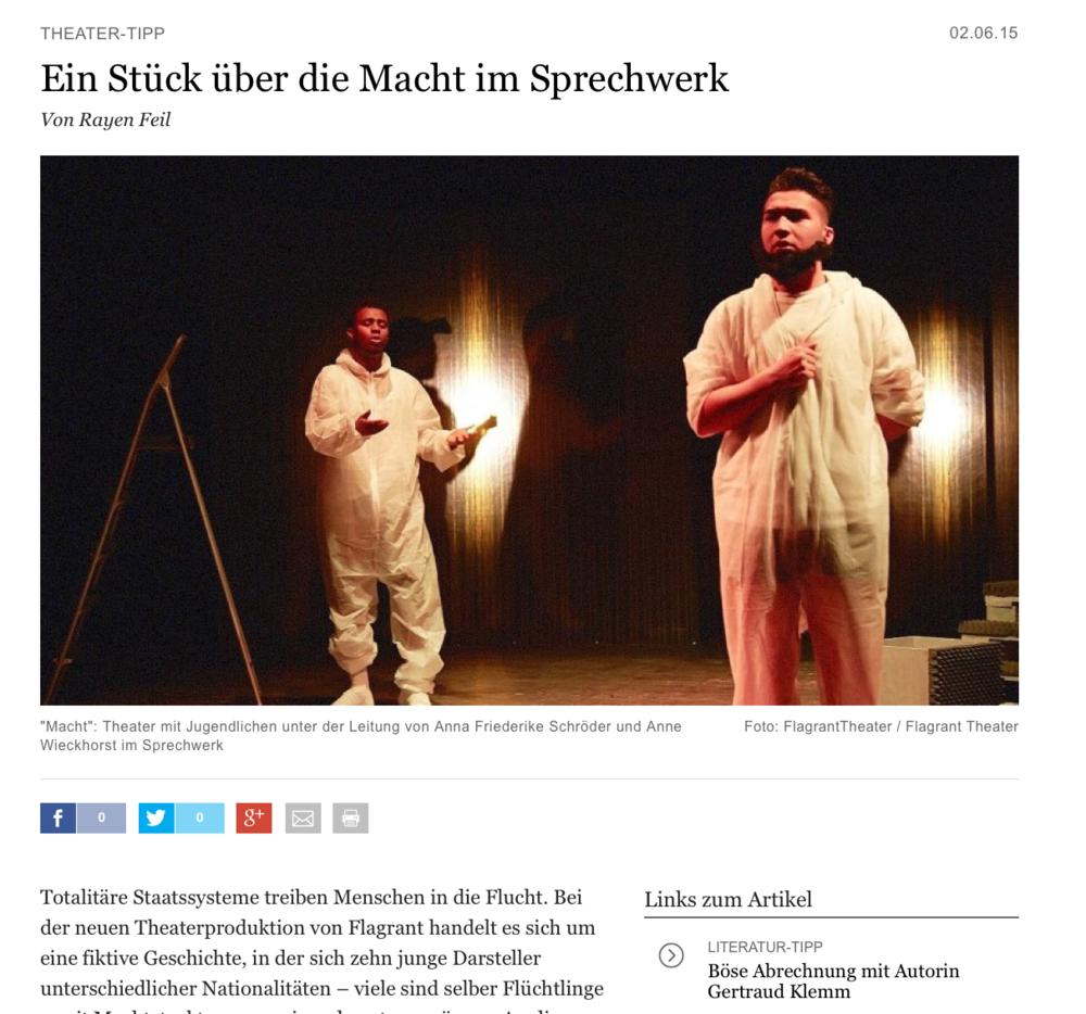zum Artikel:  http://www.abendblatt.de/hamburg-tipps/tagestipps/article205356287/Ein-Stueck-ueber-die-Macht-im-Sprechwerk.html
