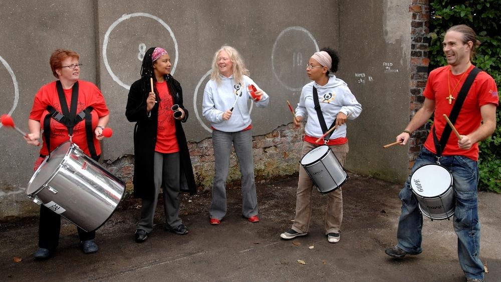 Steel drummers at our key handover celebration event in September 2007