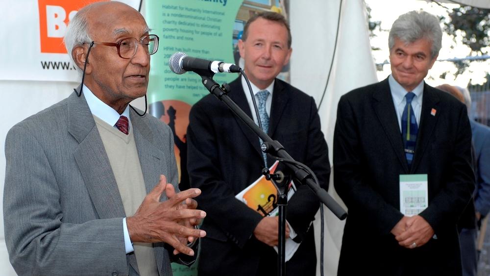 Our original patrons (L-R): Akbar Ali MBE (deceased), Lord David Alton and Councillor Gideon Ben Tovim