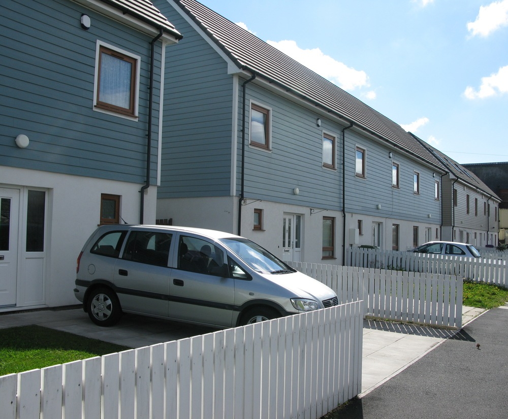 Finished homes on Kingsley Road