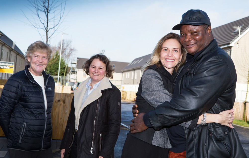 L-R HPBC chief exec Liza Parry,  chair Shannon Ledbetter, Wienerberger director of marketing Annette Forster  and home partner George Anyakwo.jpg