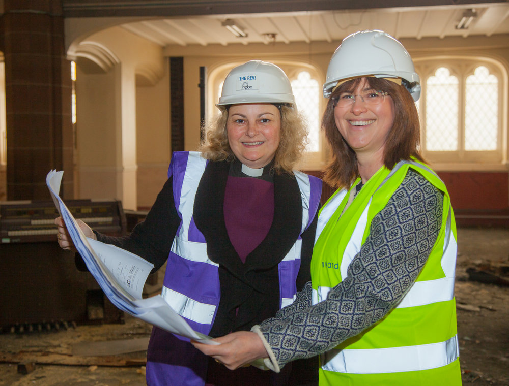 HPBC founder and chair Rev'd Dr Shannon Ledbetter, left, with Onward chief executive Bronwen Rapley