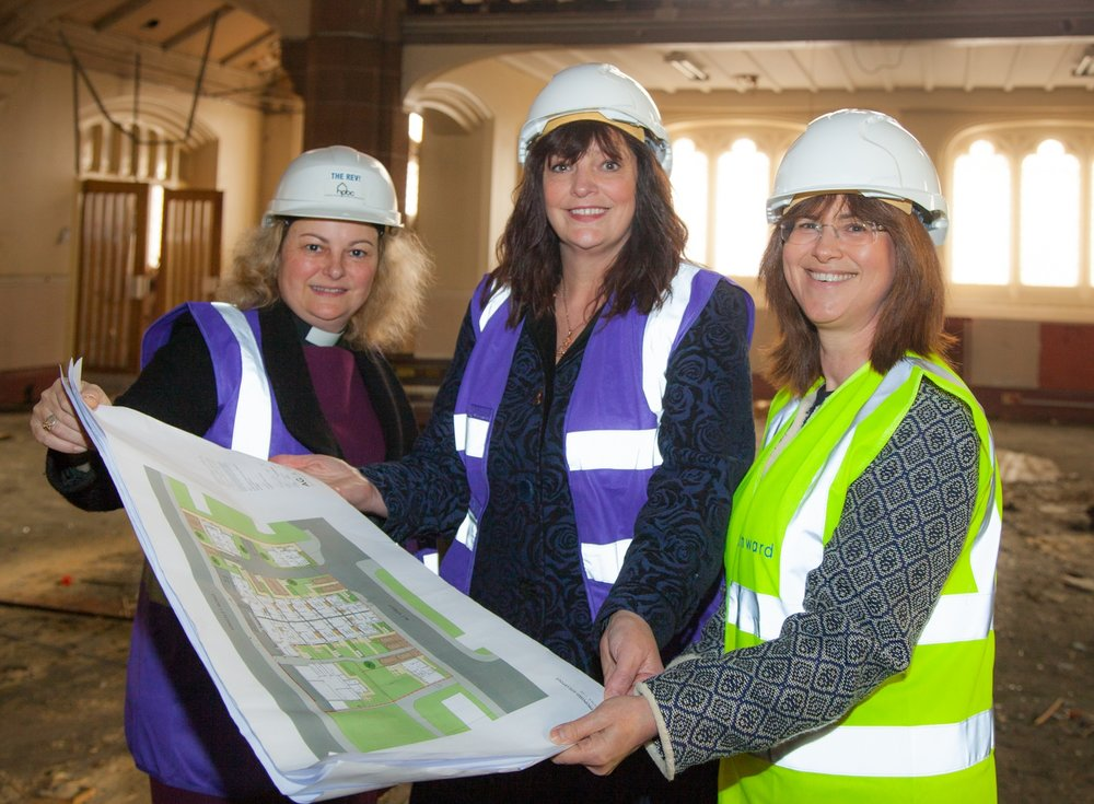 L-R HPBC chair Rev'd Dr Shannon Ledbetter, Deputy Mayor Cllr Ann O'Byrne and Onward chief executive Bronwen Rapley