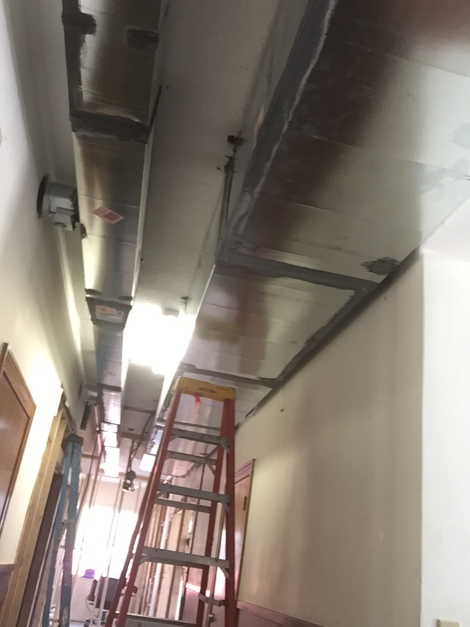 More new duct work to support our new, state-of-the-art HVAC system.