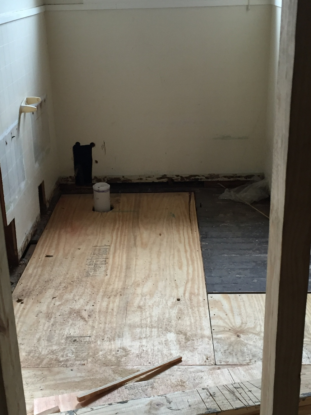 We have floors going down after the plumbing has passed inspection!