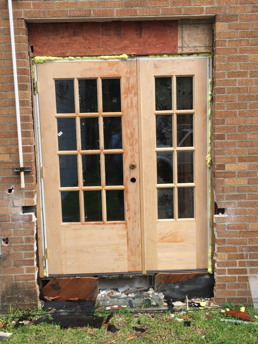 This is a new exterior door into our nursery.