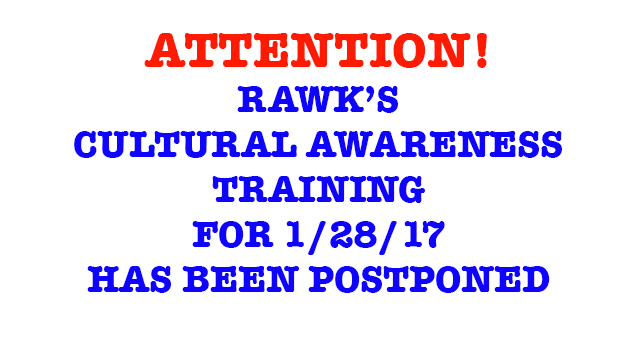 WE WILL KEEP YOU POSTED REGARDING THE RESCHEDULED DATE OF THIS TRAINING. LOOKING FORWARD TO THIS IMPORTANT WORK TOGETHER!