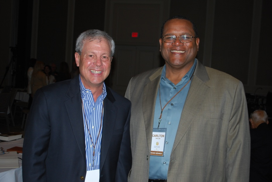 Don Kirkman, Hilton Head Economic Development Corporation, and Carlton Dallas, Board member, Hilton Head Institute