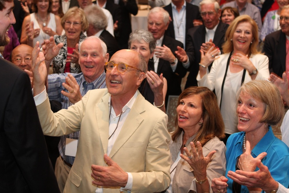 "The crowd, singing ""Happy Birthday"" as per Benjamin Zander to Jack Burrows."