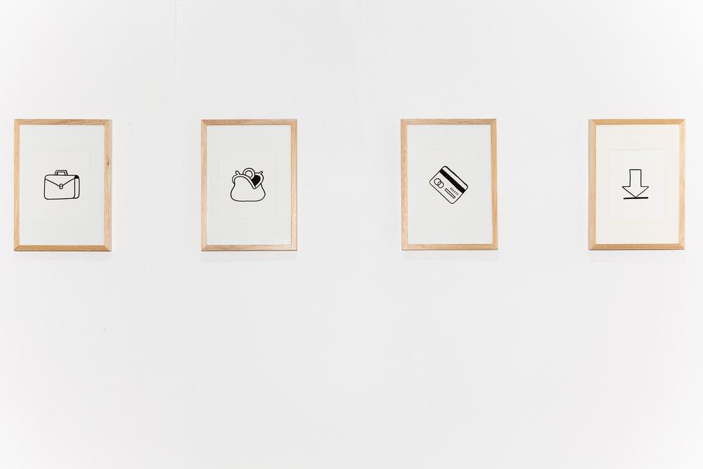 Lavoro guadagno, pago pretendo Acrylic on paper, 25x35 2014