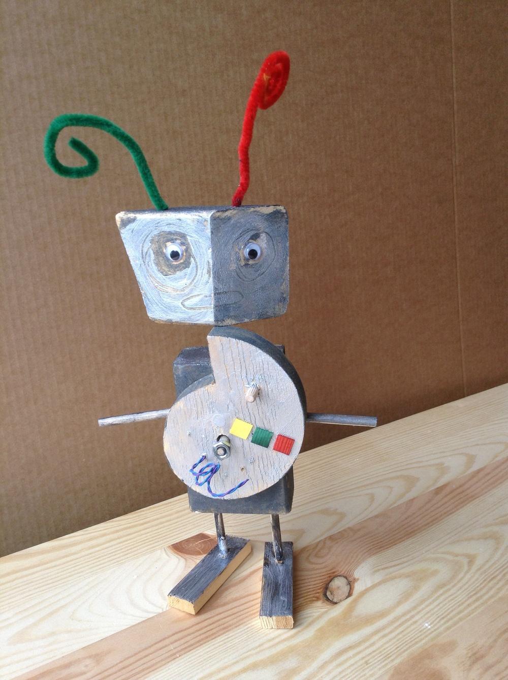 Forskrekket robot