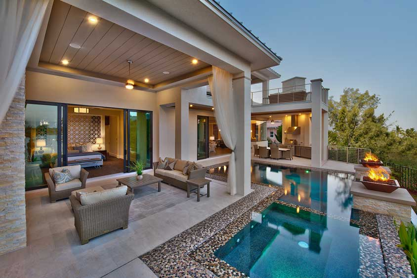 How to create the perfect outdoor living space luxe Home plans with outdoor living