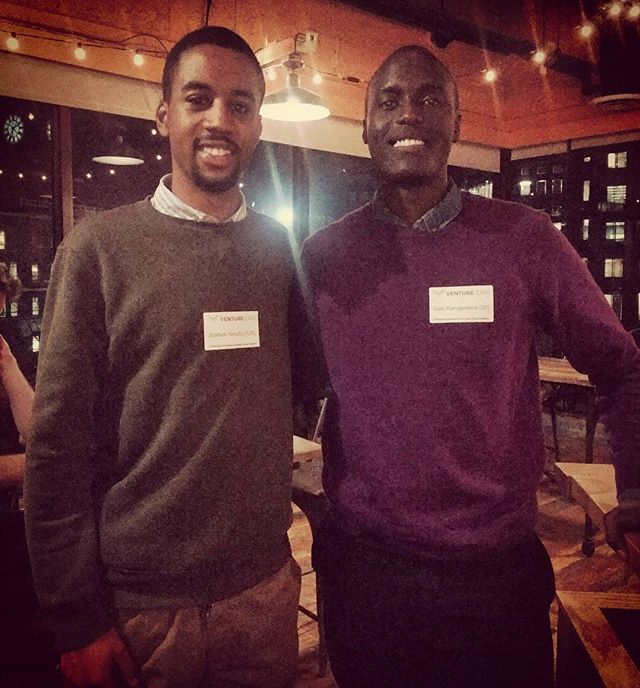 Speaking tech with good friend & Data Associate at Amazon, Mark Gato Karugarama at the @venturecafe #SoftwareRandD(.com)