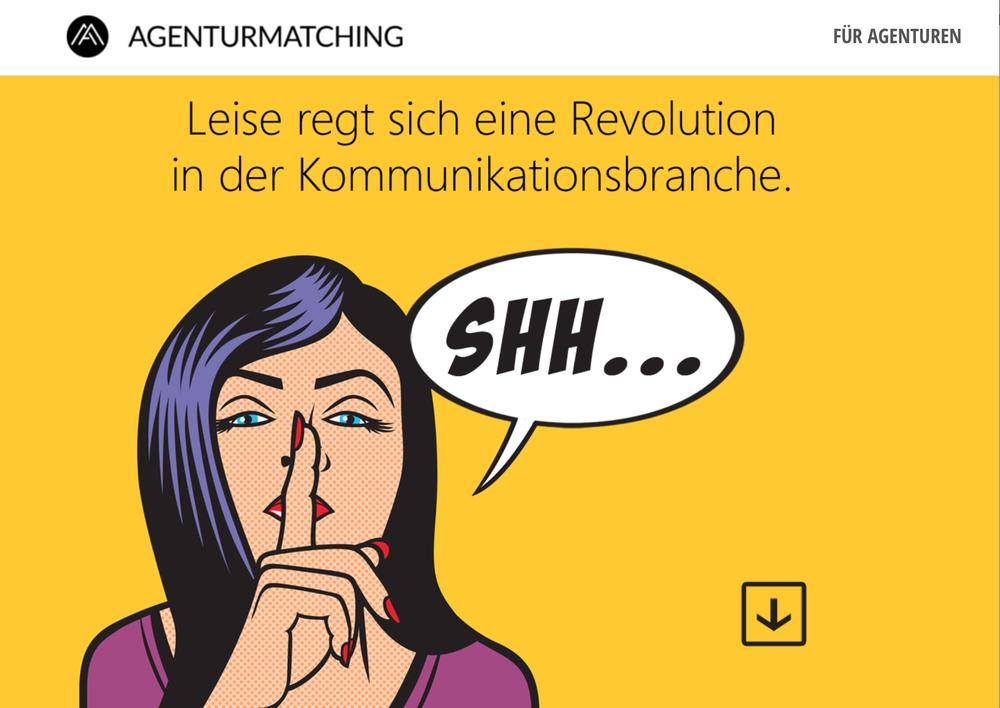 Abbildung: Startseite www.agenturmatching.de
