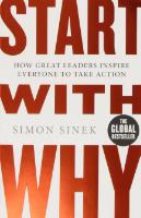 """Das sehr lesenswerte Buch zum """"Golden Circle"""" Modell von Trainer, Speaker und Autor Simon Sinek. (Abbildung: www.amazon.de)"""
